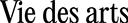 Vie des Arts Logo